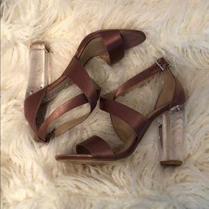 Steve Madden Cascade/CASC01S1 Satin /Acrylic Heels